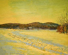 5540 New Year's Day: Impressionist En Plein Air Landscape Painting on Linen