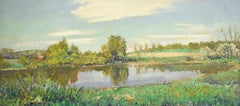#5682 McKernon Road: Impressionistic En Plein Air Summer Landscape Painting