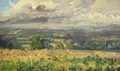 #5700 View from Saw Hill: Impressionistic En Plein Air Landscape Painting