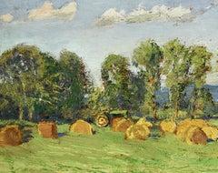 #5713 Richard Neil's Field: Impressionistic En Plein Air Landscape Painting