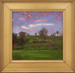 Braymer Hill: Impressionist En Plein Air Landscape Painting of Green Country