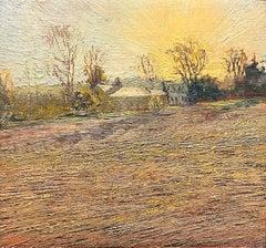 Warren's Barn: Van Gogh Inspired Plein Air Landscape Painting of Country Farm