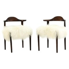 Harry Ostergaard for Randers Pair of Cow Horn Chairs