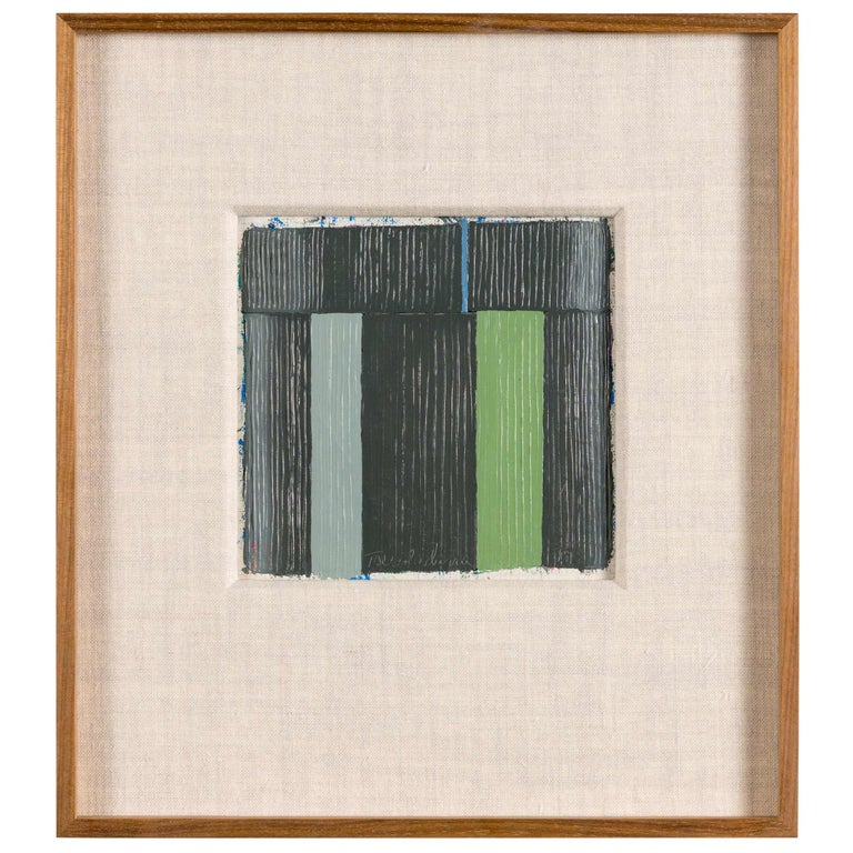 Harry S. Tsuchidana, Untitled, Color Block Style Painting, United States, 1979 For Sale
