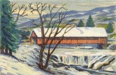 Covered Bridge (South Londonderry, Vermont Bridge across the West River)