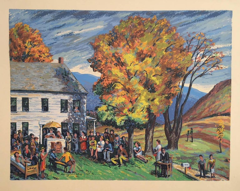 Vermont Auction - Print by Harry Shokler
