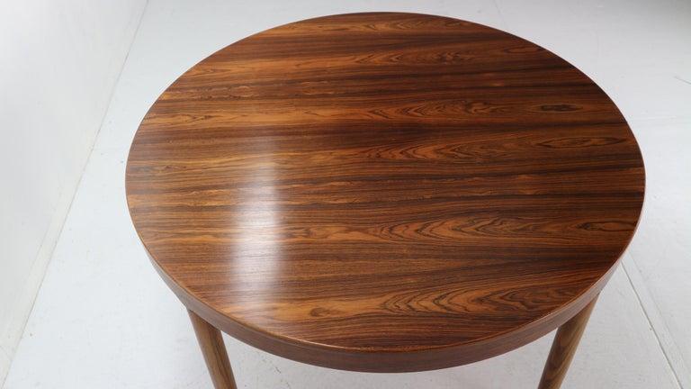 Harry Østergaard for Randers Møbelfabrik Danish Extendable Round Dinning Table 9
