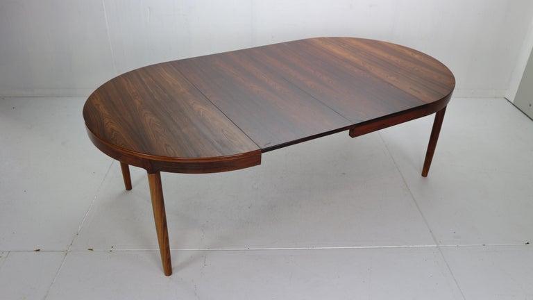 Harry Østergaard for Randers Møbelfabrik Danish Extendable Round Dinning Table 13