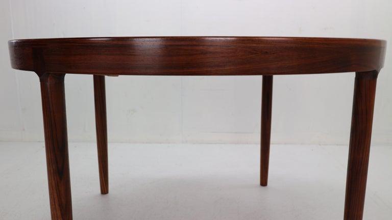 Harry Østergaard for Randers Møbelfabrik Danish Extendable Round Dinning Table 1