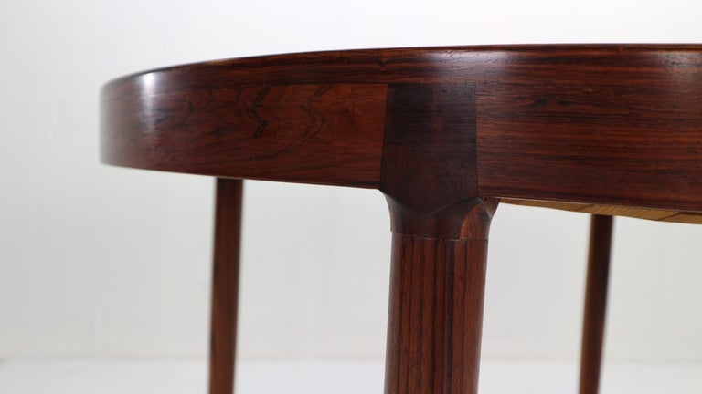 Harry Østergaard for Randers Møbelfabrik Danish Extendable Round Dinning Table 3