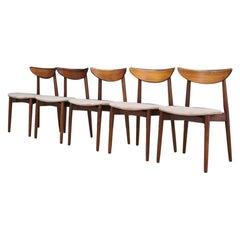 Harry Østergaard Rosewood Grey Chairs 1960s Vintage
