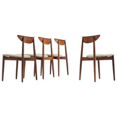 Harry Østergaard Set of Four Dining Chairs in Rosewood