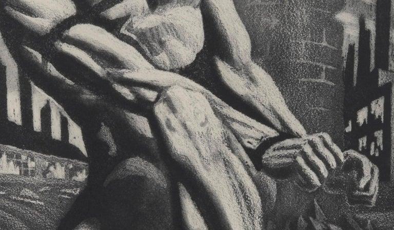 Enough - American Modern Print by Harry Sternberg