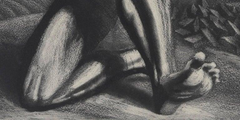 Enough - Black Figurative Print by Harry Sternberg