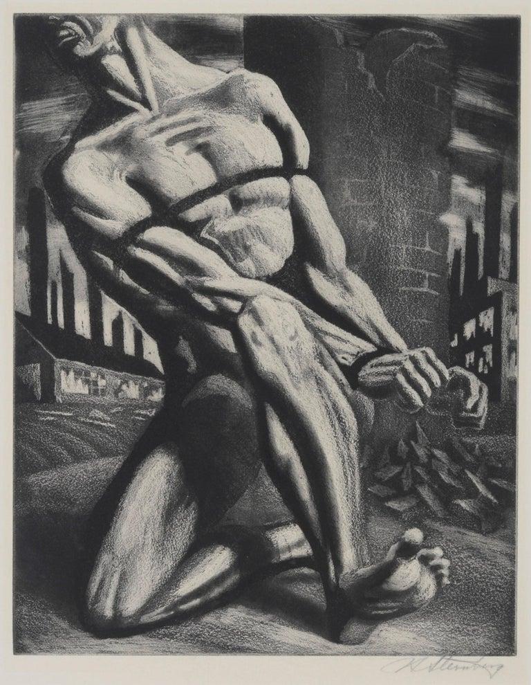 Harry Sternberg Figurative Print - Enough