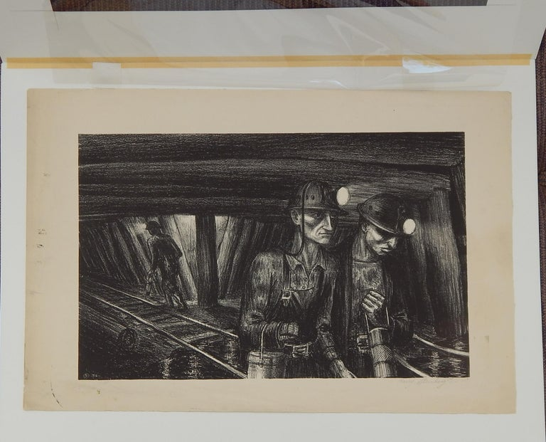 New York and California Artist, Harry Sternberg (1904-2001) Original stone lithograph.