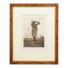 """Harry Vardon"" Golf Print by Beldam"