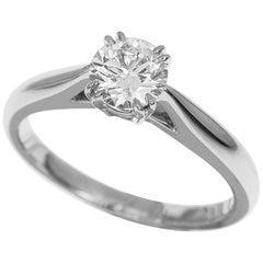 Harry Winston 0.50 Carat Diamond Platinum Solitaire Round Brilliant Ring