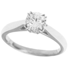 Harry Winston 0.51 Carat Diamond Platinum Round Brilliant Solitaire Ring