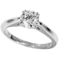 Harry Winston 0.54 Carat Diamond Solitaire Round Brilliant Platinum Ring