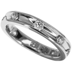 Harry Winston 0.68 Carat Diamond Platinum Voilà Wedding Band Ring