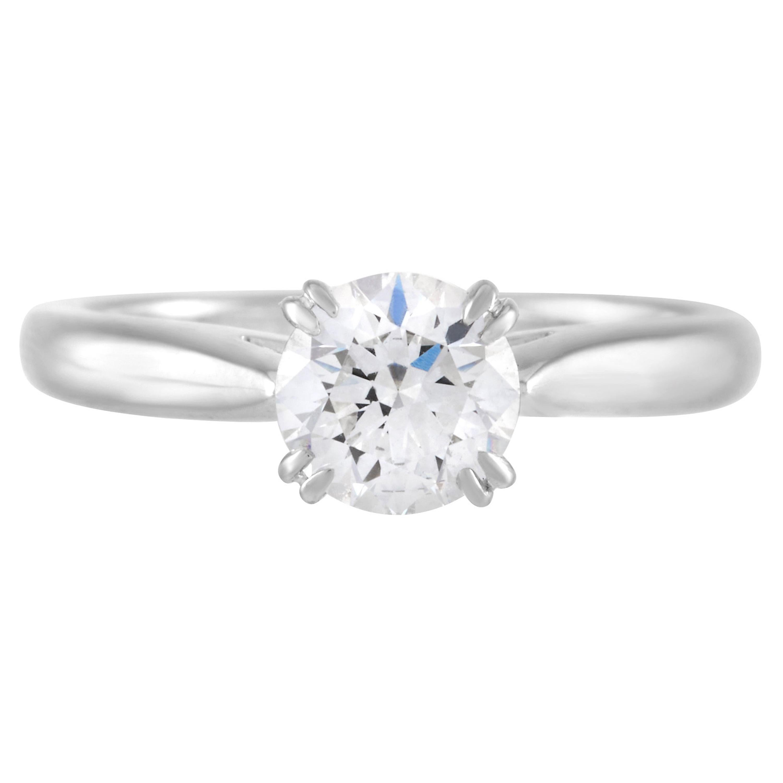 Harry Winston 0.71 Carat Round Diamond Solitaire Engagement Ring in Platinum
