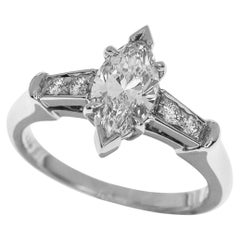 Harry Winston 0.71 Carat Tryst Marquise Diamond Trist Platinum Ring