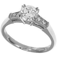 Harry Winston 0.72 Carat Diamond Platinum Tryst Engagement Ring