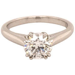 Harry Winston 1.11 Carat GIA Certified F-VS1 Diamond Engagement Ring in Platinum