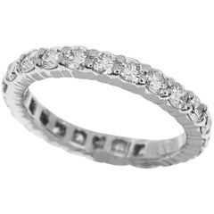 Harry Winston 1.15 Carat Diamond Platinum Round Prong Set Ring