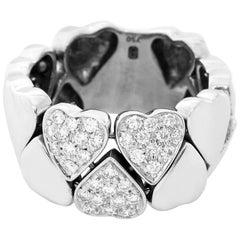 Harry Winston 18 Karat White Gold Heart Diamond Ring