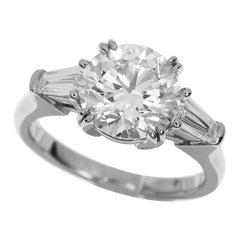Harry Winston 1.91 Carat Diamond Platinum Round Classic Ring