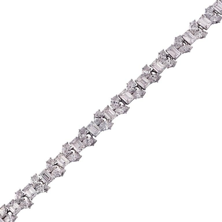 Women's Harry Winston 24.17 Carat Diamond Bracelet For Sale