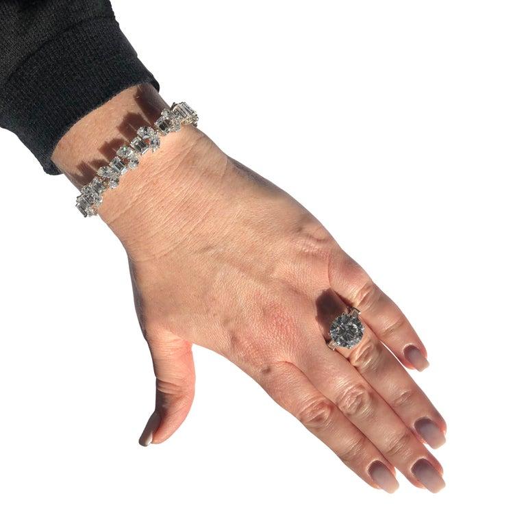 Harry Winston 24.17 Carat Diamond Bracelet For Sale 1
