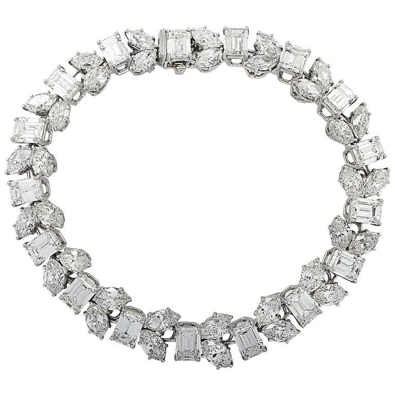 Harry Winston 24.17 Carat Diamond Bracelet For Sale