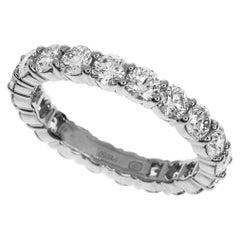 Harry Winston 3.14 Carat Diamonds Platinum Round Prong Set Ring