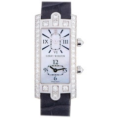 Harry Winston Avenue C Dual Time Watch AVECQTZWW007