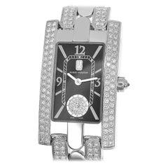 Harry Winston Avenue Diamond 18 Karat White Gold Quartz 310LQW