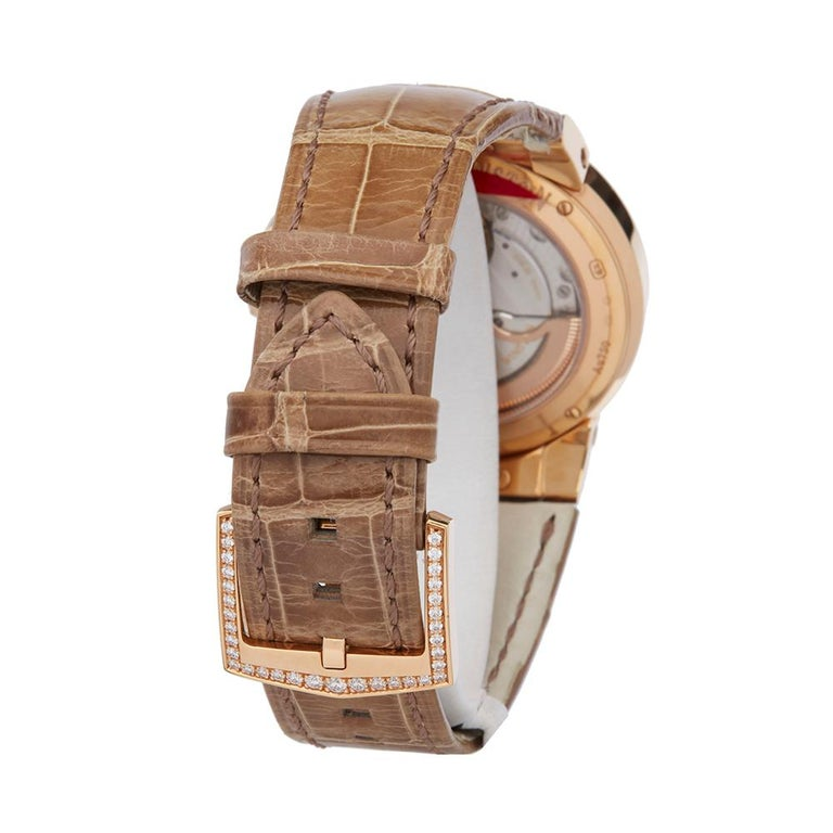 Women's Harry Winston Biretrograde 18K Rose Gold OCEAB136RR023 Wristwatch For Sale