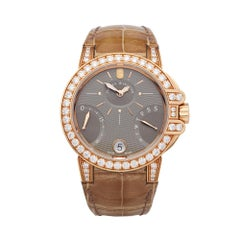 Harry Winston Biretrograde 18K Rose Gold OCEAB136RR023 Wristwatch