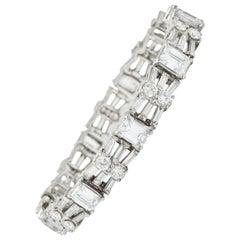 Harry Winston by Jacques Timey 20.52 Carat Emerald Cut Diamond Platinum Bracelet