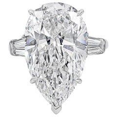 Harry Winston by Jacques Timey Pear Shape Diamond Three-Stone Engagement Ring