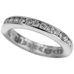 Harry Winston Platinum Channel Set Round Brilliant 35P Diamonds Wedding Band