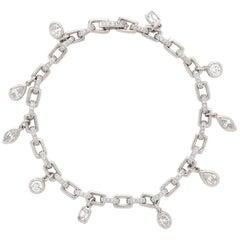 Harry Winston Custom Diamond Charm Bracelet