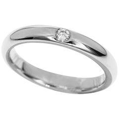 Harry Winston Diamon Platinum Round Marriage Ring