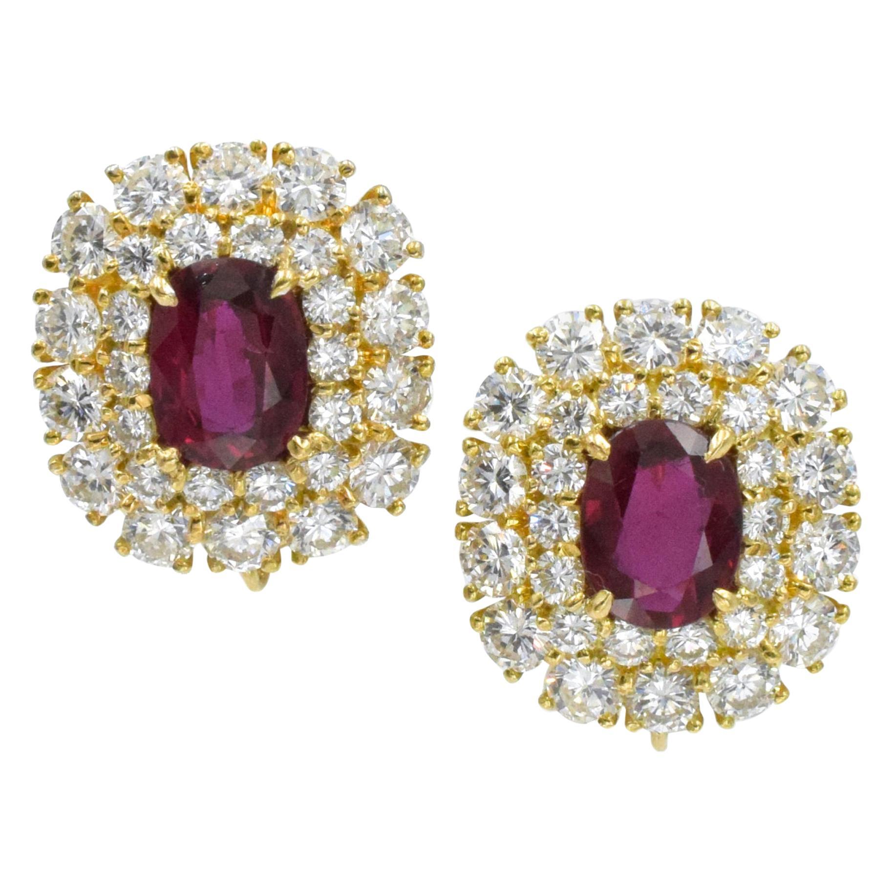 Classics Diamond and Ruby Drop Earrings