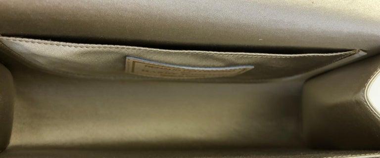 Women's or Men's Harry Winston Diamond White Gold Beige and Black Silk Evening Bag For Sale