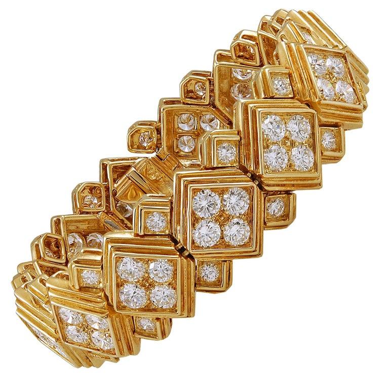 Harry Winston Diamond Bracelet For Sale