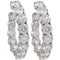 Harry Winston Diamond Hoop Earrings