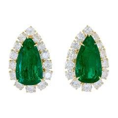 Harry Winston Diamond, Pear-Shaped Emerald Earrings